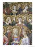 Choir of Angels, Detail from the Journey of the Magi Cycle in the Chapel, c.1460 Giclee Print by Benozzo di Lese di Sandro Gozzoli