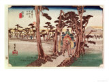 Fuji from Yoshiwara from 53 Stations of the Tokaido, c.1833 Giclee Print by Ando Hiroshige