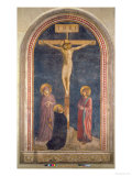 Crucifixion, Virgin, SS John the Evangelist and Dominic from the Convent of San Marco, c.1442 Giclee Print by  Fra Angelico