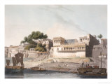 City of Patna, River Ganges, Plate 10 from Part 1 of Oriental Scenery, Engraved 1795 Giclee Print by Thomas & William Daniell