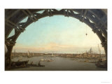 London Seen Through an Arch of Westminster Bridge, 1746-7 Giclee Print by Canaletto 