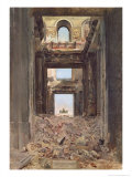 The Ruins of the Tuileries, 1871 Giclee Print by Jean-Louis Ernest Meissonier