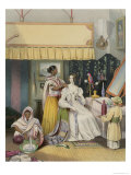 The Young Ladys Toilet, Plate 2 from Anglo Indians, Engraved by J. Bouvier, c.1842 Giclee Print by William Tayler