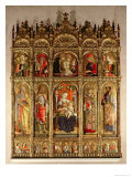 Madonna and Child with Saints, Polyptych, 1473 Giclee Print by Carlo Crivelli
