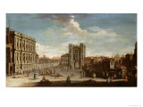 Old Whitehall and the Privy Garden Giclee Print by Pietro Fabris