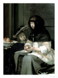 The Apple Peeler, 1660 Giclee Print by Gerard ter Borch