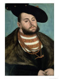 Portrait of John Frederick the Magnanimous Lámina giclée por Lucas Cranach the Elder