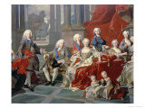 Family of Philip V of Spain Giclee Print by Louis-Michel van Loo