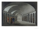 Curious Cemetery under the Capuchin Monastery, Near Syracuse, Engraved Joseph Constantine Stadler Giclee Print by Cooper Willyams