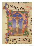 The Crucifixion Depicted in an Historiated Initial 'N', Detail from a Missal, c.1430 Giclee Print by  Fra Angelico