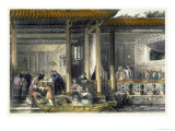 Arrival of Marriage Presents at the Bridal Residence, China in a Series of Views by G.N. Wright Giclee Print by Thomas Allom