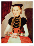 Portrait of a Woman, 1564 Lámina giclée por Lucas Cranach the Elder