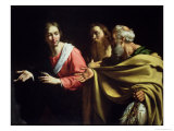 The Calling of St. Peter and St. Andrew Lámina giclée por Bernardo Strozzi