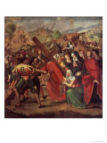 The Procession to Calvary, c.1505 Giclée-tryk af Ridolfo Ghirlandaio