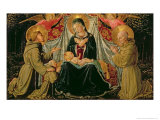 Madonna and Child with St. Francis and the Donor Fra Jacopo Da Montefalco Giclee Print by Benozzo di Lese di Sandro Gozzoli
