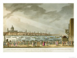 Lord Nelson&#39;s Funeral Procession, Greenwich to Whitehall, Engraved Clark and Marke, Pub.Orme 1806 Giclee Print