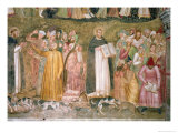 The Church Militant and Triumphant, Thomas and Peter Confuting the Heretics, Spanish Chapel,C.1369 Giclee Print by  Andrea di Bonaiuto
