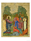 Raising of Lazarus, Russian Icon, Cathedral of St. Sophia, Novgorod School, 14th Century Giclée-Druck