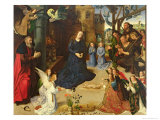 Christ Child Adored by Angels, Central Panel of the Portinari Altarpiece, c.1479 Giclee Print by Hugo van der Goes