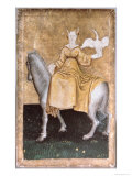 Mounted Lady Holding a Heron on One Hand, Upper Rhein Are, c.1440-45 Giclee Print by Konrad Witz
