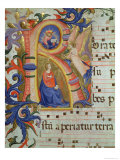 The Annunciation Depicted in an Historiated Initial 'R', Detail from a Missal, c.1430 Giclee Print by Fra Angelico
