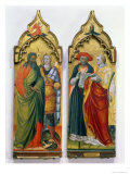 St. Andrew, St. Michael, St. Jerome and St. Lawrence Giclee Print by Bicci di Lorenzo