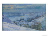 The Village of Herblay under Snow, 1895 Giclee Print by Albert-Charles Lebourg
