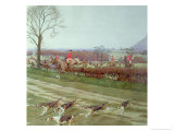 The Cheshire - Away from Tattenhall, 1912 Giclee Print by Cecil Aldin