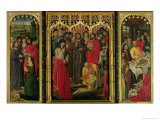 Resurrection of Lazarus Triptych, the Raising of Lazarus Giclée-Druck von Nicolas Froment