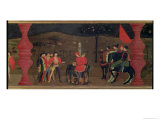 Jewish Pawnbroker and Family Burned at the Stake For Roasting the Consecrated Host, c.1468 Giclee Print by Paolo Uccello