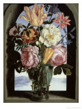 Still Life of Flowers in a Drinking Glass Giclee Print by Ambrosius The Elder Bosschaert