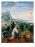 St. Francis Receiving the Stigmata Giclee Print by Jan van Scorel