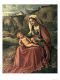 Madonna and Child in a Landscape, Before 1504 Giclee Print by Giorgione