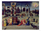 Augustus and the Tiburtine Sibyl Giclee Print by Antoine Caron