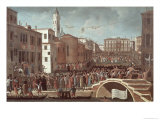Festival of the Blessed Virgin Mary on the 2nd February at Santa Maria Formosa, Venice Giclee Print by Gabriele Bella