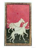 Three Hunting Dogs, One of a Set of Playing Cards, Courtly Hawking, Upper Rhein Are, c.1440-45 Giclee Print by Konrad Witz