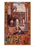 Allegorical Illustration of an Alchemist at Work, from Splendor Solis Trismosin, 1582 Giclee Print