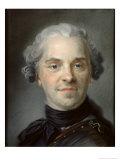Portrait of Maurice, Comte de Saxe Giclee Print by Maurice Quentin de La Tour