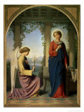 The Angelic Salutation, or the Annunciation, 1860 Giclee Print by Eugene Emmanuel Amaury-Duval