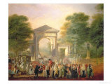 Avenue Before the Botanical Gardens in Madrid, c.1781 Giclee Print by Luis Paret y Alcazar