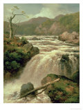 Waterfall on River Neath, South Wales Giclee Print by James Burrell Smith