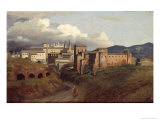 View of St. John Lateran, Rome, 1822 Giclee Print by Joseph Desire Court