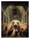 The Initiation of a Young Novice from Albano in the Choir of the Convent of St. Clare in Rome Giclee Print by Francois-Marius Granet