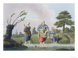 Leech Finders, from Costume of Yorkshire Engraved by Robert Havell Giclee Print by George Walker