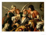 The Healing of Tobit, Early 1630S Giclee Print by Bernardo Strozzi