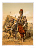Turkish Foot Soldiers in the Ottoman Army, Pub. by Lemercier, c.1857 Giclee Print by Amadeo Preziosi