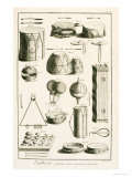 Plate II: Ancient and Modern Percussion Instruments from the Encyclopedia of Denis Diderot Giclee Print by Robert Benard