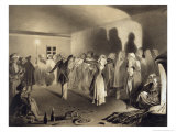 Dancing Party at Kagha-Choura, Dagestan, Plate 55, Book on the Caucasus, Engraved by Nanteuil Giclee Print by Grigori Grigorevich Gagarin