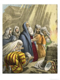 Noah's Sacrifice on Leaving the Ark, from a Bible Printed by Edward Gover, 1870's Giclee Print by Siegfried Detler Bendixen