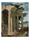 Landscape with Ruins and a Shepherd Giclee Print by Jean Lemaire